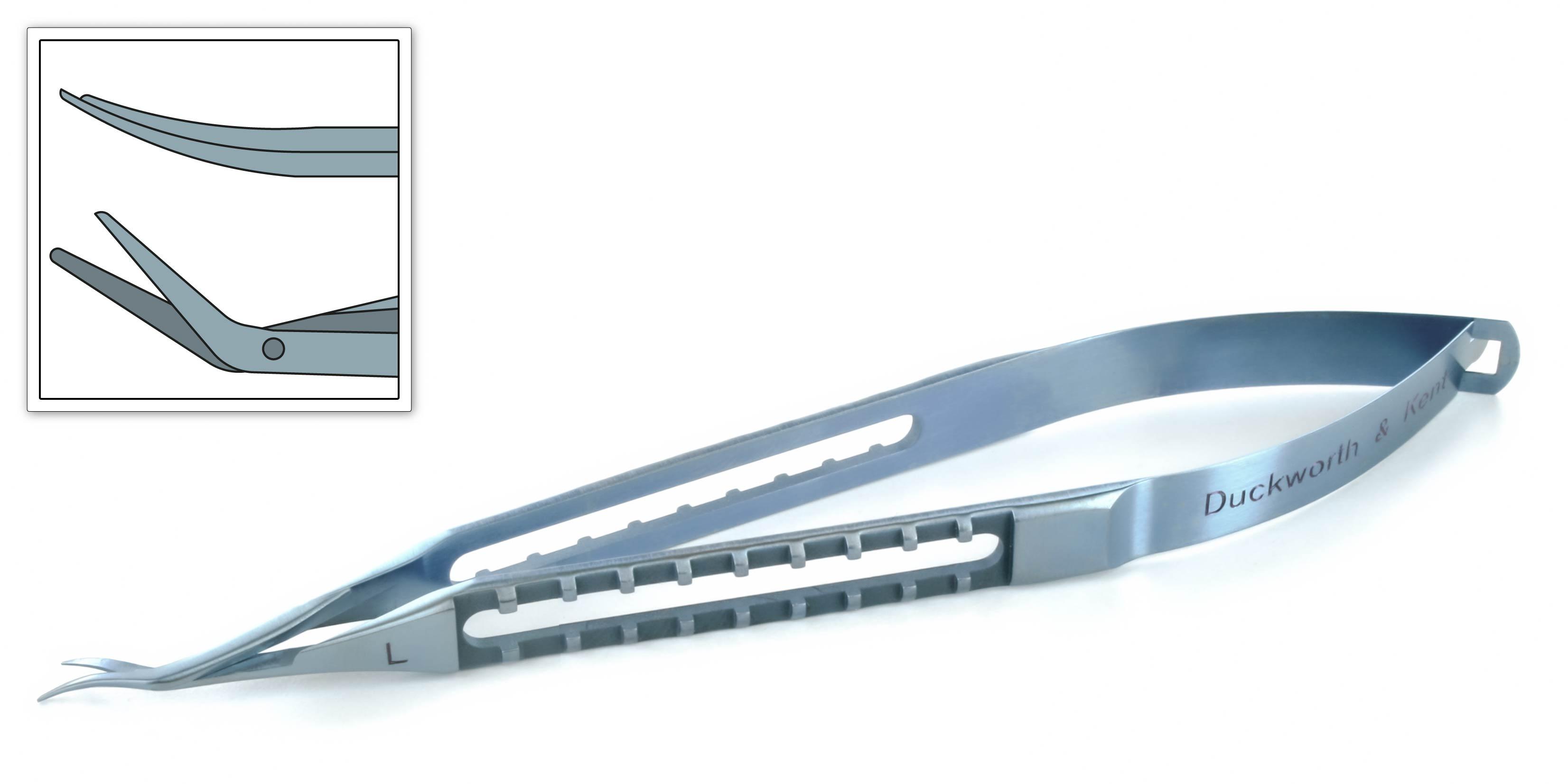 Castroviejo Corneal Scissors (curved to left)