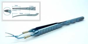 Calladine-Inamura Flat Handle Capsulorhexis Forceps, Corneal Incision