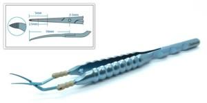 Calladine-Inamura Round Handle Capsulorhexis Forceps, Corneal Incision